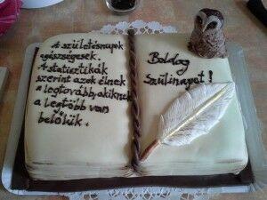 Baglyos könyv torta