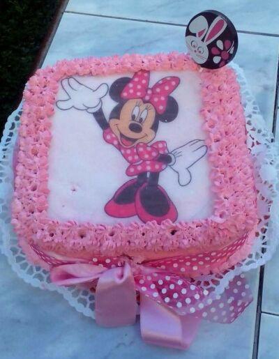 Minnie egér torta